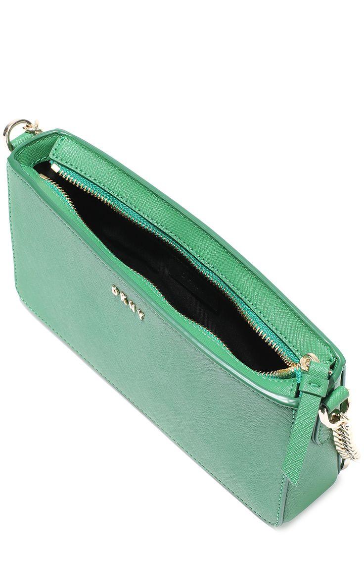 Женская зеленая сумка bryant park из сафьяновой кожи DKNY, арт. R461140201 купить в ЦУМ | Фото №4