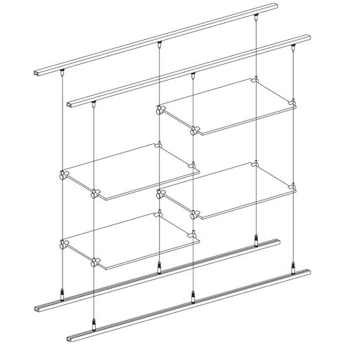 Suspended Shelves From Ceiling: 14 Best Cable Suspension System For Glass Shelving Images