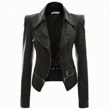 2015 chaqueta de cuero delgada para mujer cremallera chaqueta de cuero chaqueta de la motocicleta jaqueta de couro chaquetas femeninas para mujeres(China (Mainland))