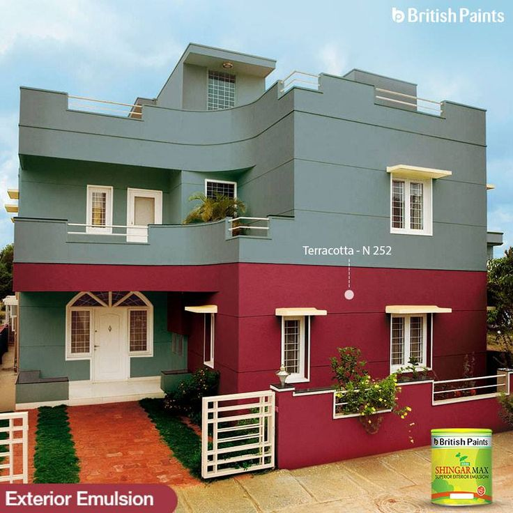 This 'Terracotta' -painted house has delicate details that highlight the inquisitive image of the exterior.  Explore more, mix and match great colour shades of 'Shingar Max' to give the exteriors that desired personality. Visit http://www.britishpaints.in/