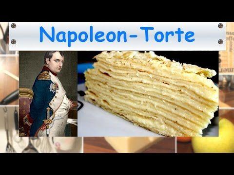 Napoleon Torte - Einfache Napoleon Torte mit Blätterteig & Vanillecreme - Kuchenfee - YouTube