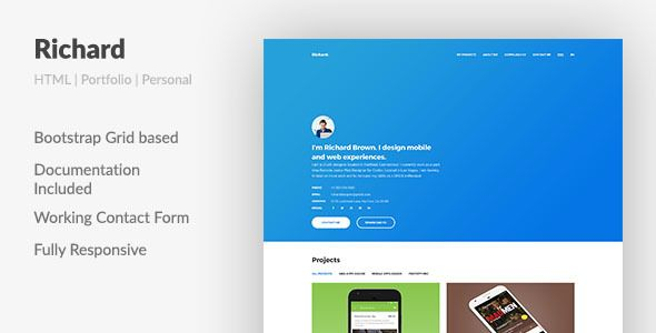 About Template:Hello. Are you a UX (user experience) designer? In this case Richard will do a great job for you. This concise, serious and trendy template has all necessary components to make an ...
