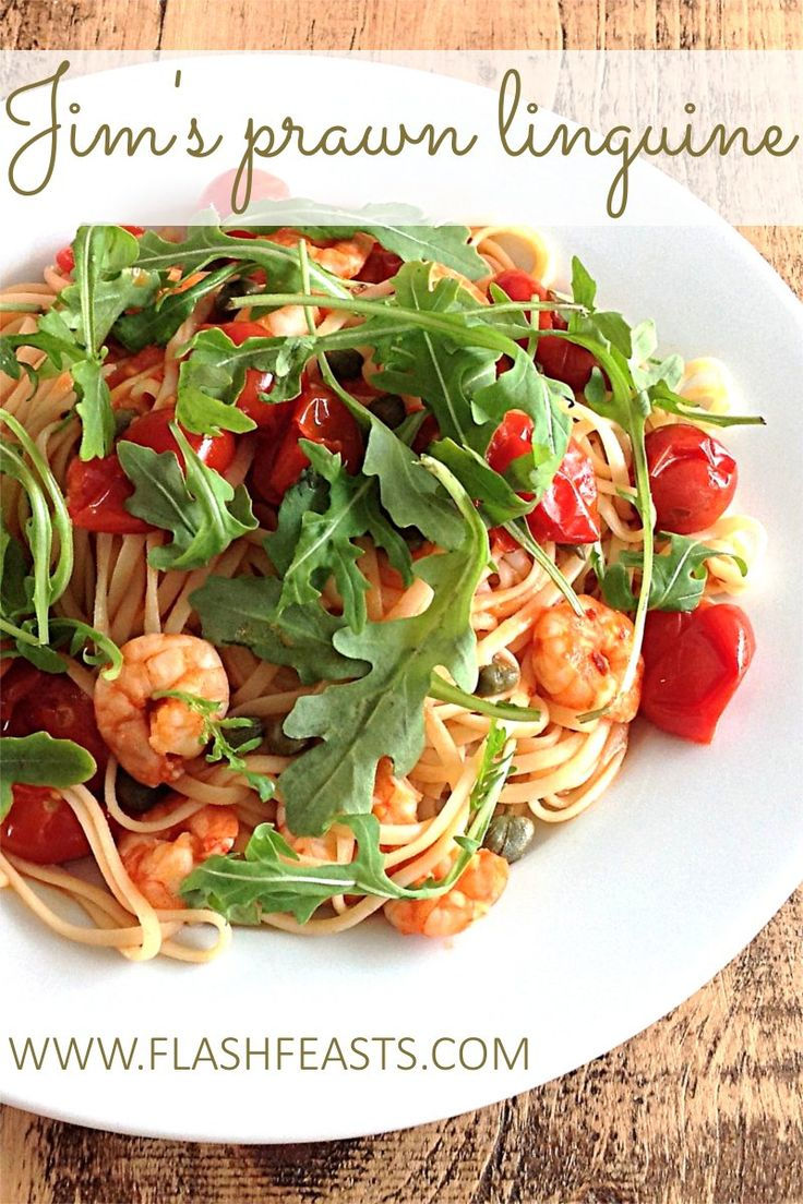 Jim's prawn linguine: For mouth-watering take on the Italian classic linguine ai gamberi, look no further. This version is really simple to make and can be knocked up in next to no time.