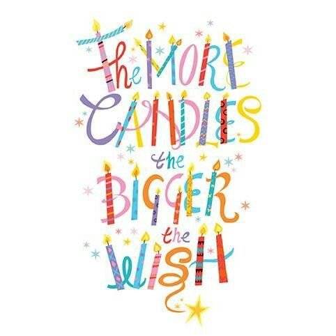 The more candles the bigger the wish