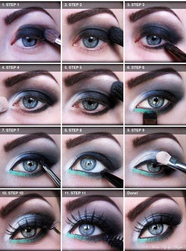 12 easy steps smokey eye makeup blue eyes