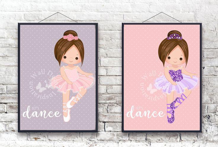 Cute #ballerina   #Balet   #Girl #brunette #brownhair   #Dance #Dancer   #KidsRoom   Nursery Room   Art Print   Home Decor Print   #Printable by InspirationWallDecor on Etsy. Check more #digitalprint #walldecor #artprint themed at my #etsy store:  www.etsy.com/shop/InspirationWallDecor