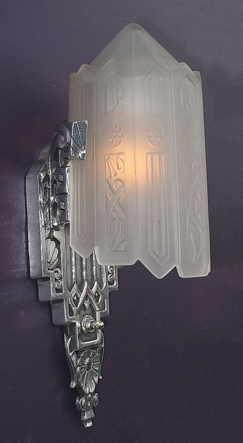 Vintage art deco sconces