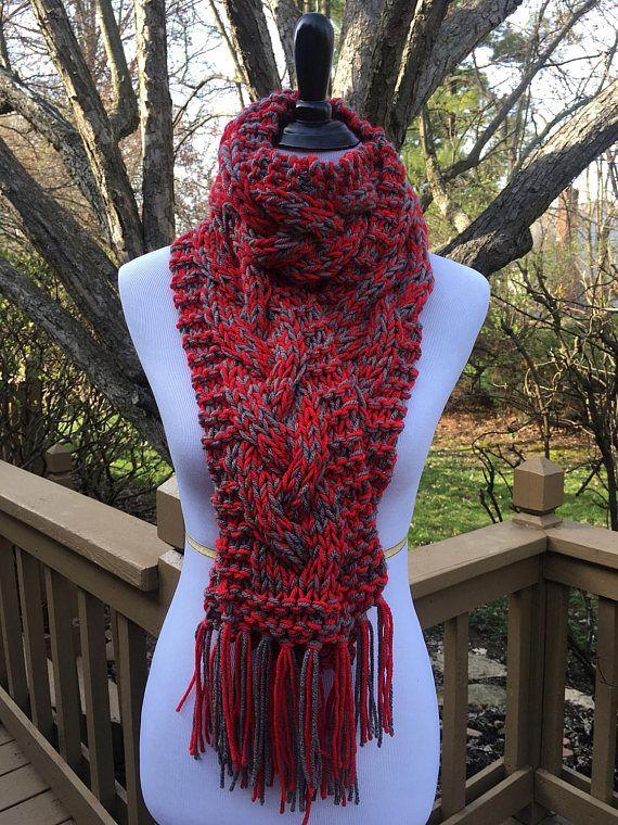 Ohio State University Knit Scarf OSU Knit Scarf Scarlet &