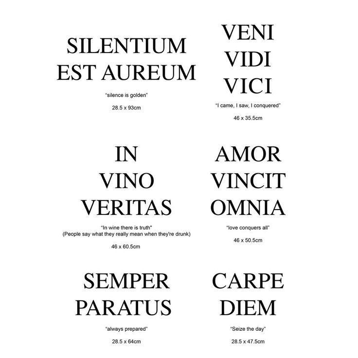Latin quote wall sticker