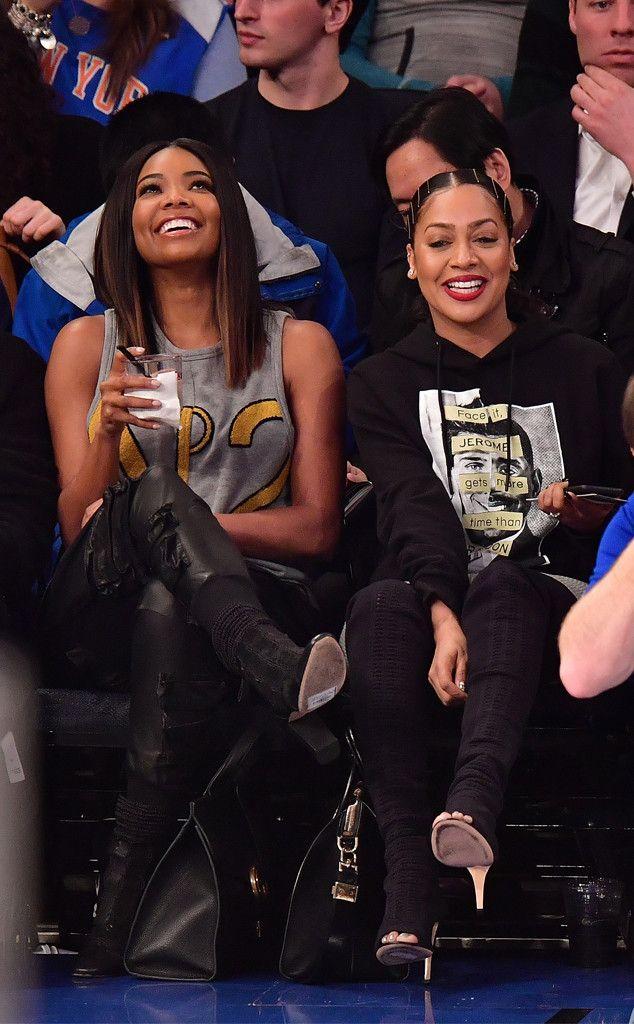 Gabrielle Union & La La Anthony from The Big Picture  B-ball babes! The twosome is photographed at the New York Knicks game in NYC.