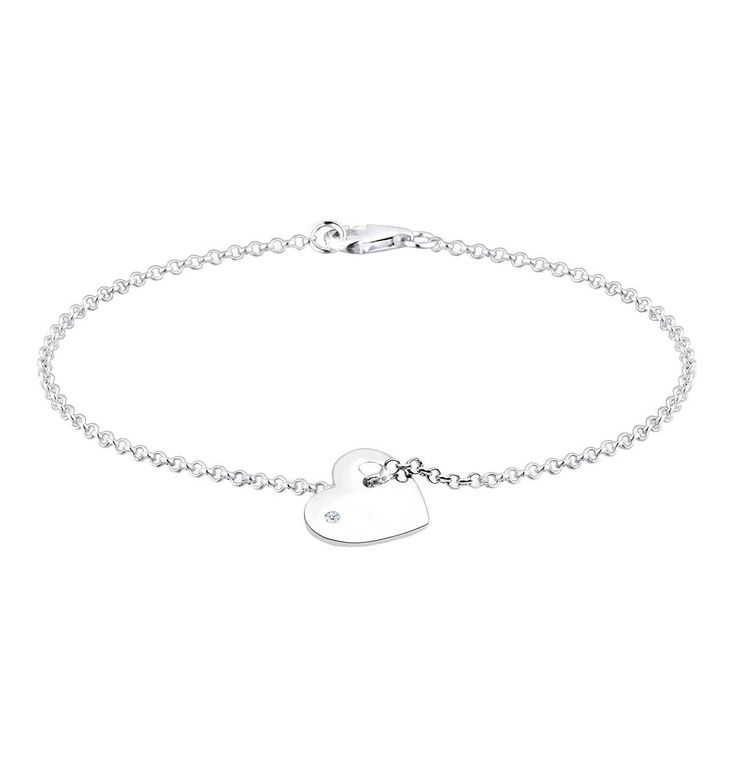 DIAMORE Armband Herz Love Diamant (0.02 Ct) 925 Silber – GALERIA Karstadt Kaufhof