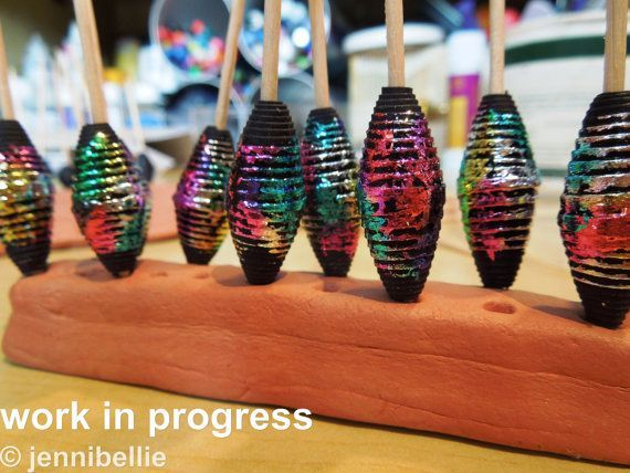 Jennibellie Studio: My *MASSIVE* Fancy Paper Beads Tutorial
