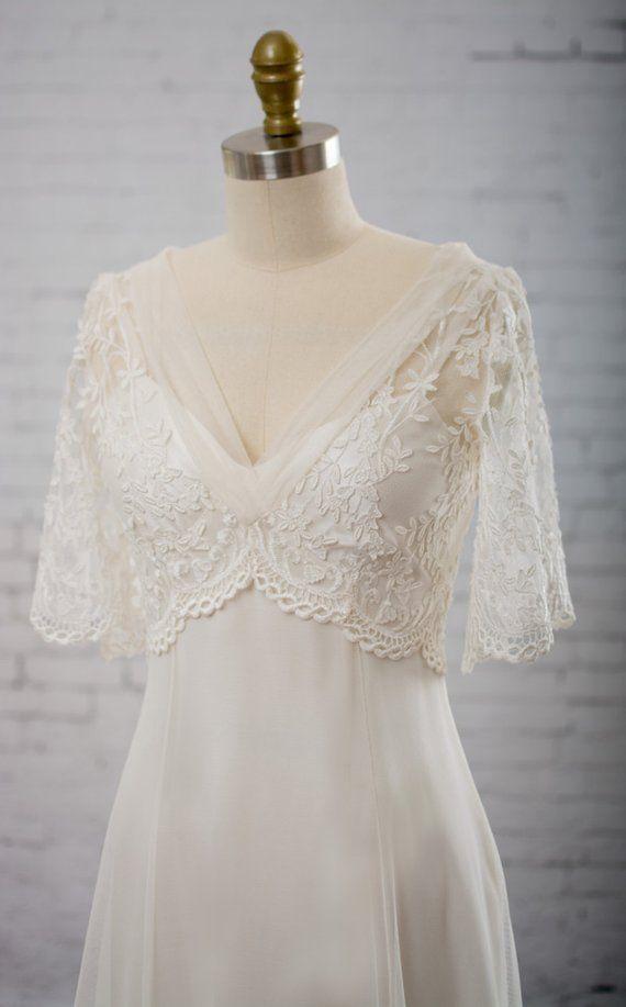 Wedding dress, backless wedding dress, vintage wedding dress, vintage wedding dress