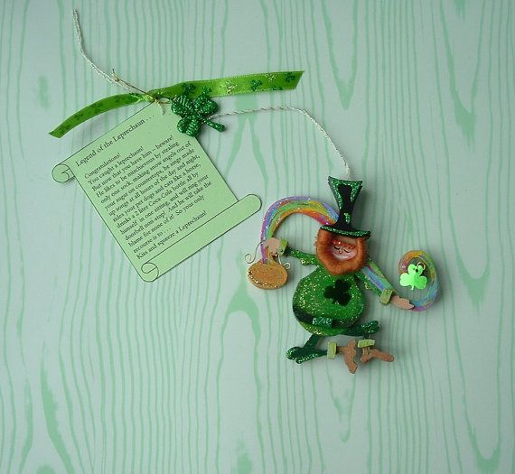 St Patrick's Day Lucky Shamrock Red Head Haired by MerryWishes, $23.00
