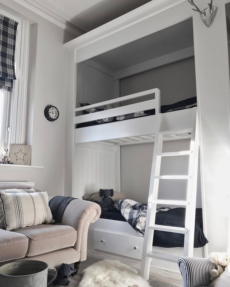 "48 Likes, 5 Comments - Susannah - Stylist (@susannahhemmingsstylist) on Instagram: ""One half of the quadruple bunk beds. Still not finished but getting there! #boysroom #bunkbeds…"""