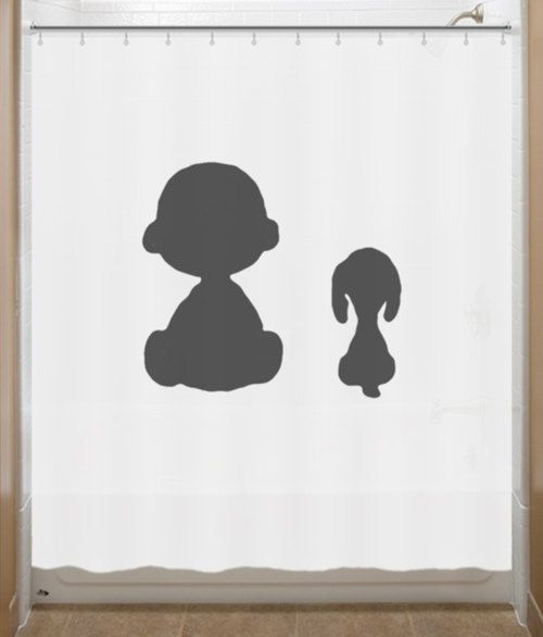 Snoopy Shower Curtain Charlie Brown Peanuts by SHOWERCURTAINS, $49.95