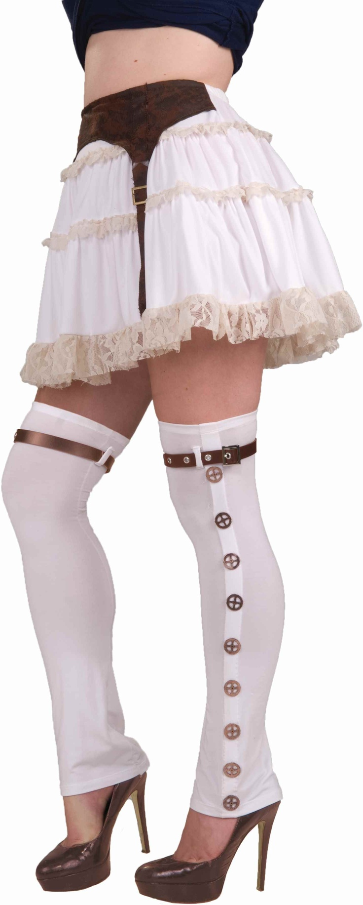 Steampunk White Buckled Spats - Steampunk Clothing, Costumes & Accessories at Escapade™ UK - Escapade Fancy Dress on Twitter: @Escapade_UK