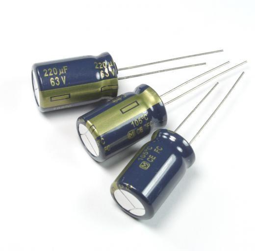 Panasonic 6pcs Fc 220uf 63v 105c Radial Electrolytic Capacitor Low Esr Eeufc1j221
