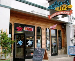 Shark Bites Cafe ~ one of our favorite places to eat in Coos Bay, Oregon. They offer delicious food, friendly service, reasonable prices and a casual atmosphere.
