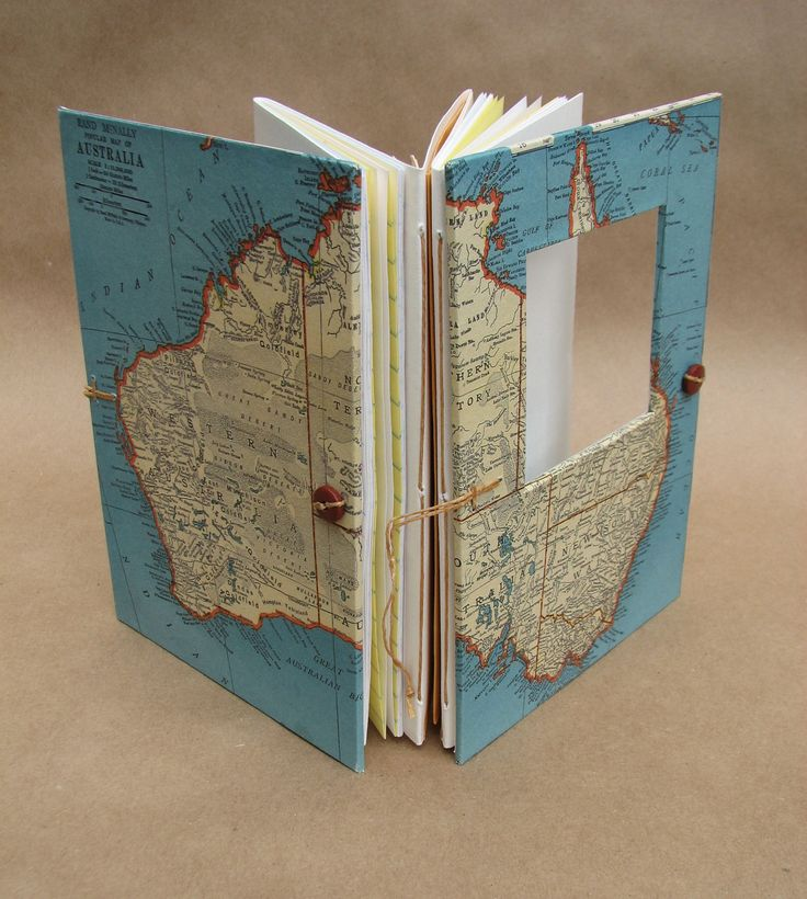 Australia Versatile Travel Journal - Map Book - Handmade for Artists, Collectors and Writers - Made to Order. From Useful Books on Etsy