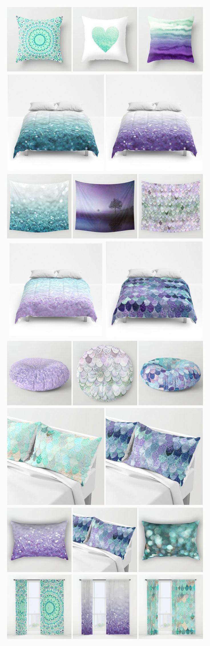 Teen vogue bedding watercolor garden - Mix Match The Cutest Teen Room In Purple And Mint Tones Glitter