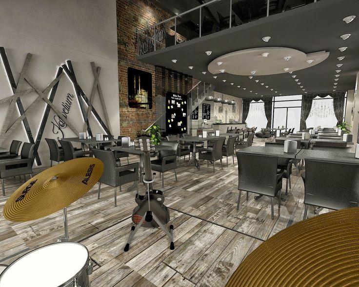 3d cafeterya tasarımı, 3d restoran tasarımı, mimari çizimi, restoran dekorasyonu