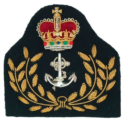 Army Officer's cap badges are gold and silver bullion wire embroidered. Hud Badges make Navy Cap Badges, Crown and Star badges in sew on variety and with Velcro backing. http://hudbadges.com/detail.php?live=1_0_0_47