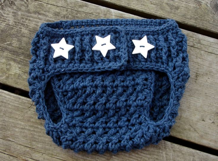 Crochet Pattern for Unisex Stars and Stripes Diaper Cover -  size newborn and 0-6 months - Welcome to sell finished items. $4.95, via Etsy.