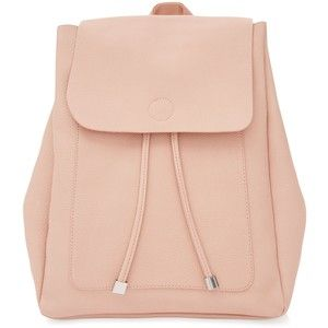 New Look Pink Leather-Look Backpack