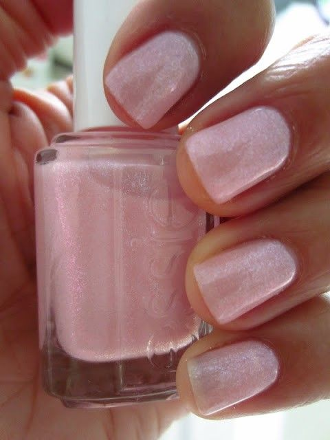 Love this essie's 'pink-a-boo' - an actually classy shimmery pink! <3