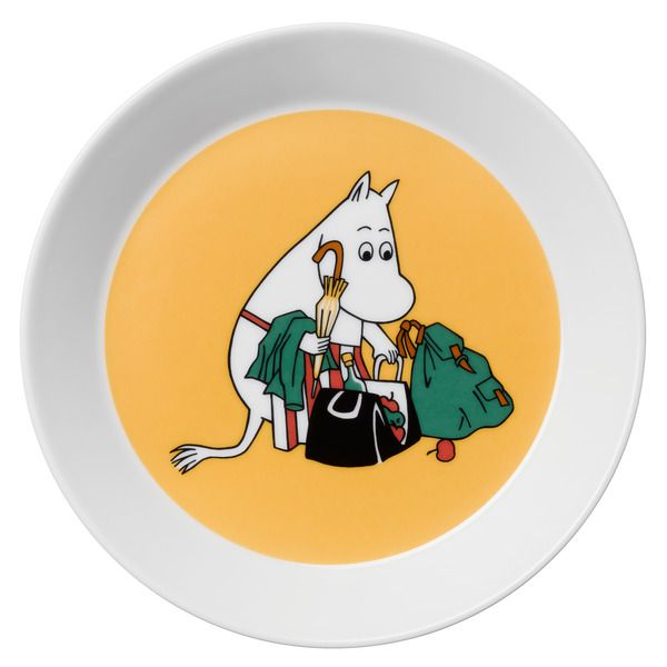 This plate will be shipped to customers on the week starting 3.3.The new 2014 Moominmamma plate features illustrations by Tove Slotte-Elevant and it shows Moominmamma arranging for a party.