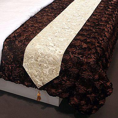 moderno estilo de oro poli seda jacquard camino de mesa – EUR € 24.74