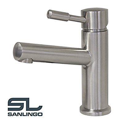 69€ Bad Badezimmer Waschbecken Waschtisch Massiv Edelstahl Wasserhahn Armatur Sanlingo