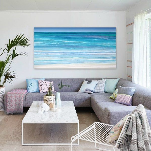 Original painting 'Kuroshio - ocean currents'. A touch of magenta against the emerald greens is a beautiful combination. Love painting with this range of colours!  #beachart #fineart #waterpainting #abstractartist #contemporaryart #interiordesign #goldcoast #contemporaryarchitecture #artwork #design #australianartist #contemporayartist #abstractart #ocean #surf #beach #bluegreenpainting #contemporarylivingroom #livingroom