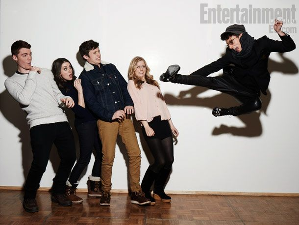 "Gabriel Basso, Alison Brie, Nick Robinson, Erin Moriarty, and Moises Arias of ""Toy's House"" at the Sundance Film Festival."