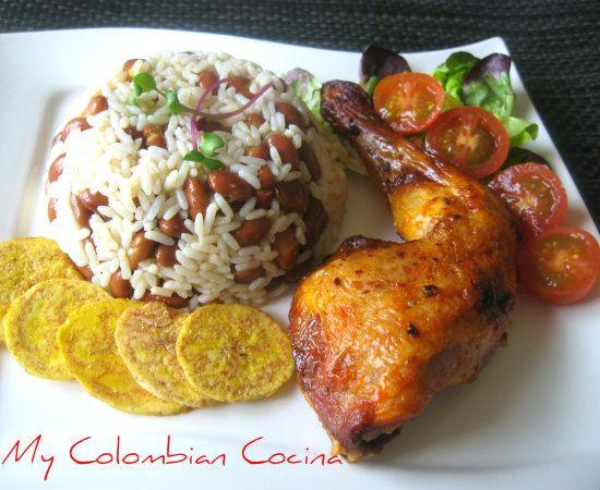 Pollo Asado con Arroz Caribeño