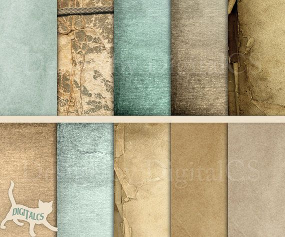 Antique paper Digital paper pack by DigitalCS #DIY #craft #scrapbooking