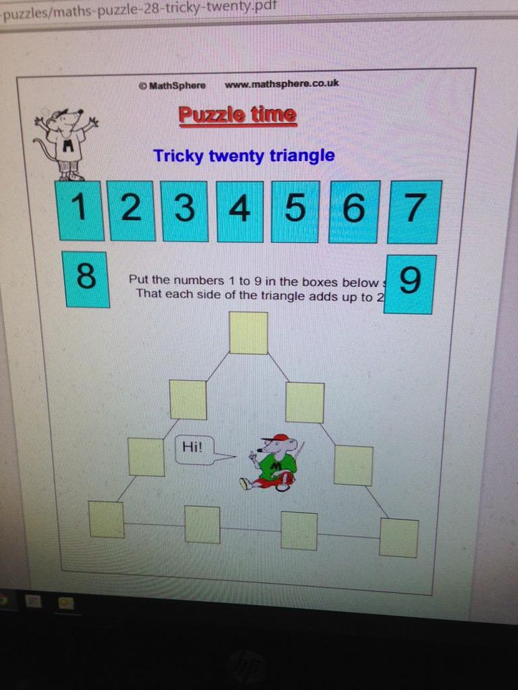 The 120 best Maths : Puzzles 5th & 6th images on Pinterest | 5th ...