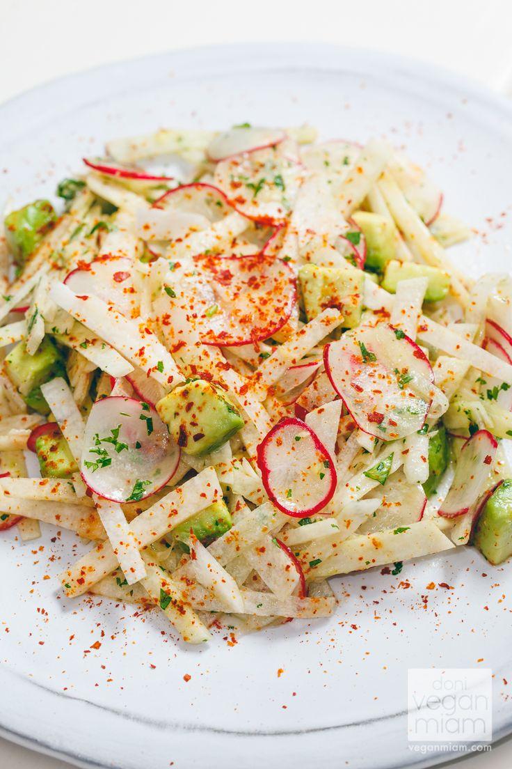 Jicama, Avocado and Radish Salad with Lime Vinaigrette | Vegan Yack Attack