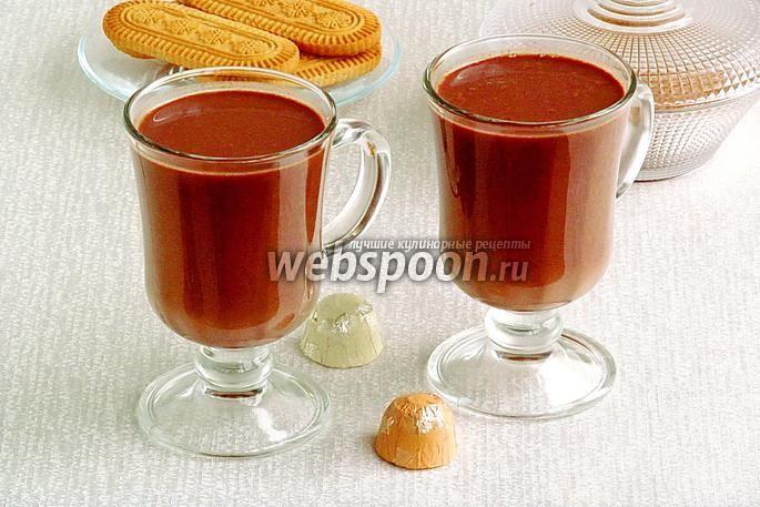 Фото Горячий шоколад имбирный