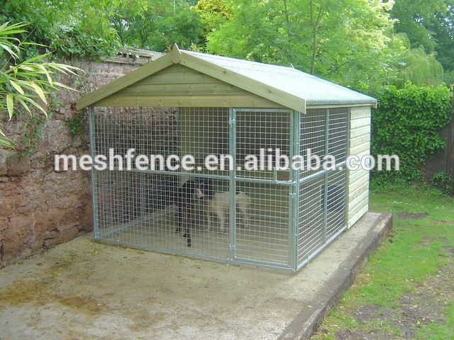 how to build a cheap outdoor dog kennel