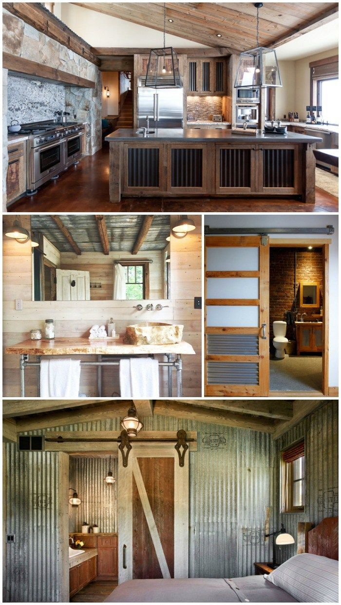 156 best corrugated craziness images on pinterest for Rustic industrial