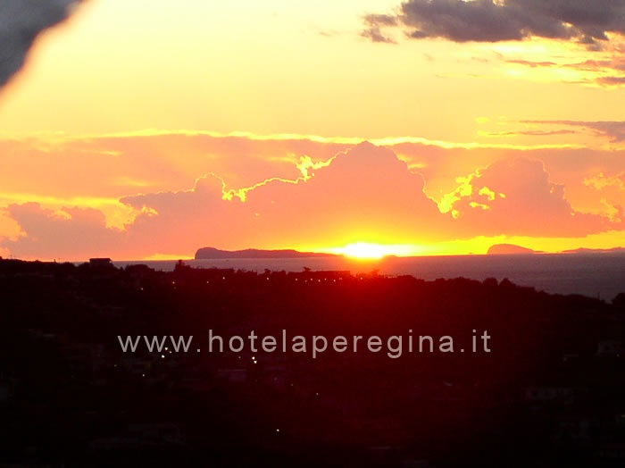 Sunset at Hotel Ape Regina Ischia...