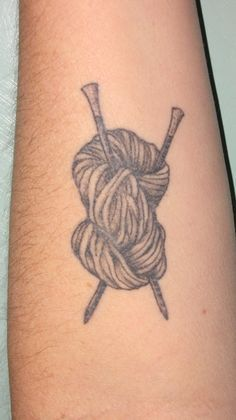 tree from knitting needles tattoo - Google Search