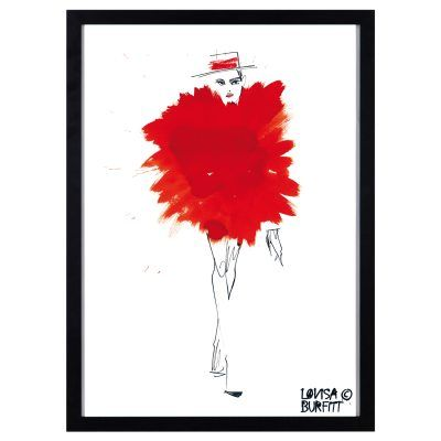 Mlle Fatale Rouge Pouf poster – Lovisa Burfitt – Köp online på Rum21.se