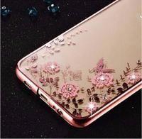 Plating Soft TPU Flower Flora Phone Case for Samsung Galaxy S/J/A Series
