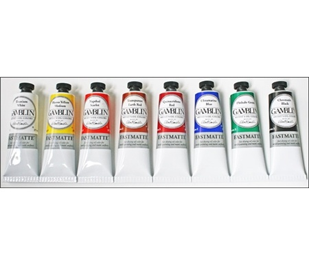 i love all of gamblin's products...but the FastMatte white is something i would eat if i could.