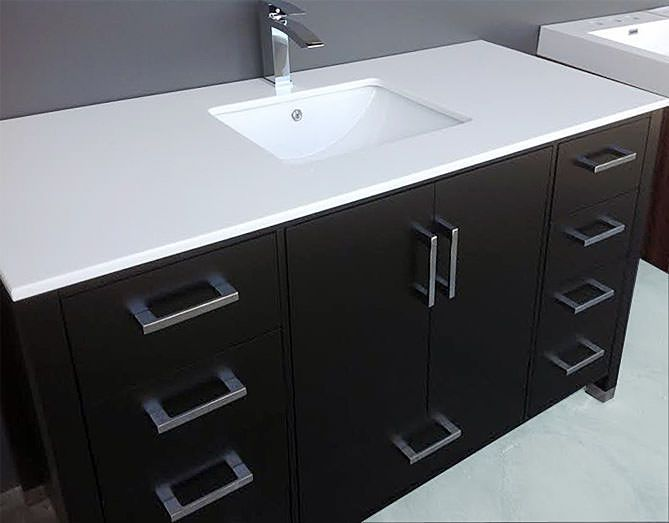 Black White 61 Inch Vanity Top With Images White Vanity