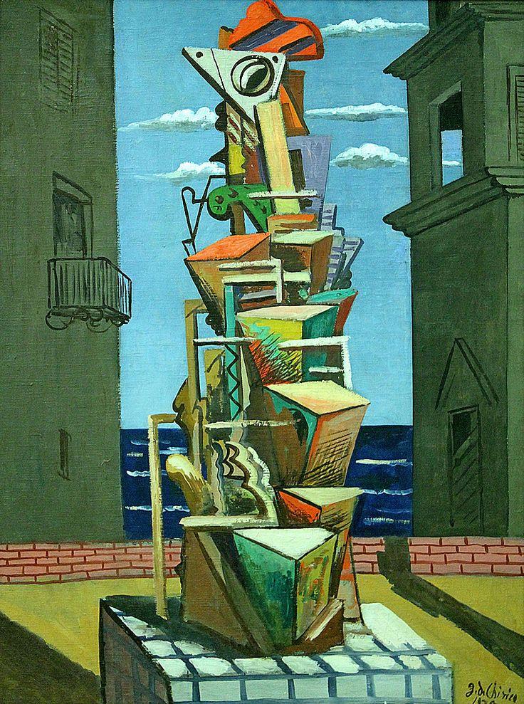 Giorgio De Chirico (1888-1978), By the sea, 1925, oil on canvas. Au bord de la mer. Am Meer, Museum moderner Kunst, Vienna Canon EOS 7D