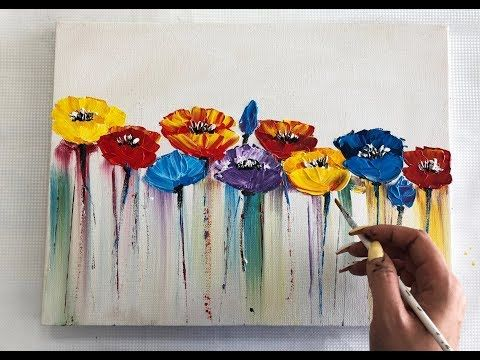 How to draw easy flowers painting / Demonstration …